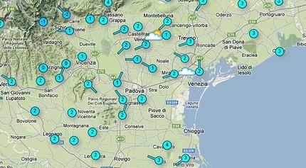 Temperatura Live su google maps